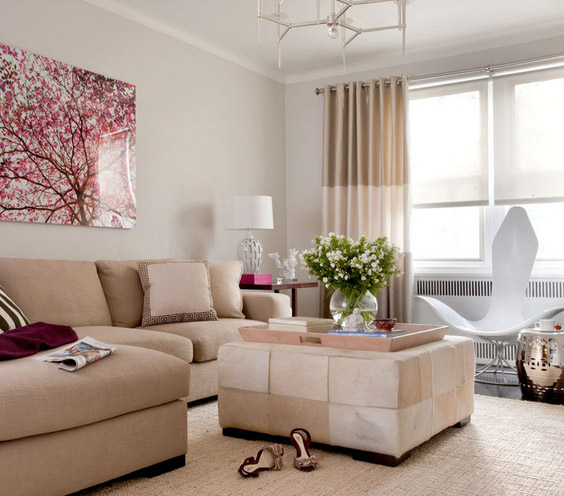 Decorating with a neutral palette chicago redesign - Simple elegant living room design ...