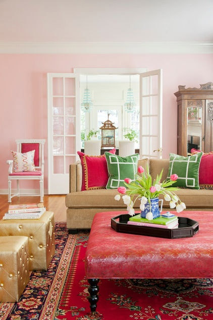 pink color palette, interior design, decorating with pink, benjamin moore paint colors, pink walls, pink and green, pink and gold