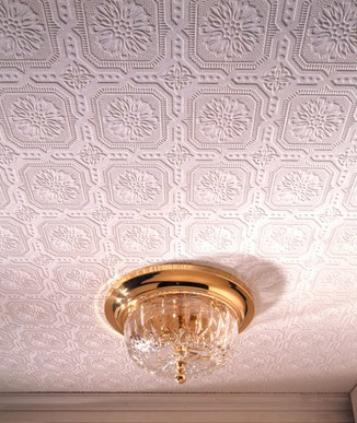 Dress up your ceiling with this paintable wallpaper | Chicago ReDesign