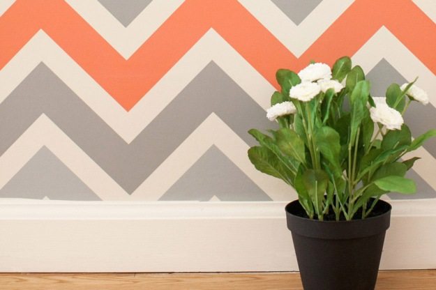 removable wallpaper, chevron pattern