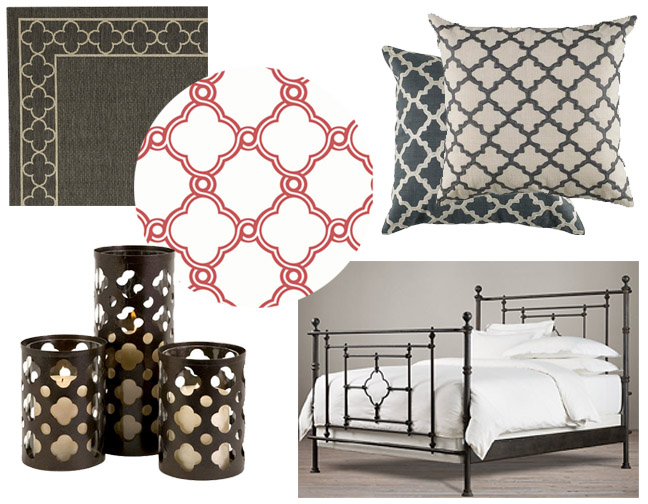 Quatrefoil patterned furniture and home decor accessories chicago redesign