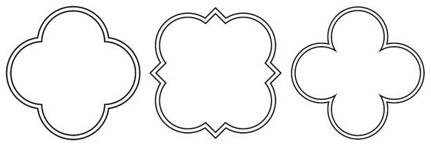 Quatrefoil designs