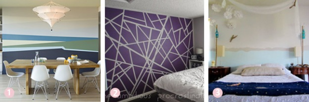 Budget room decor ideas - painted abstract designs | Chicago ReDesign