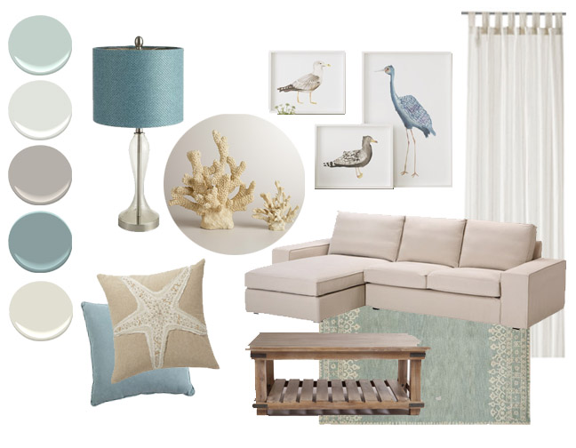Creative Living Rooms For Style Inspiration Palette: Color Inspiration: Cool Coastal Palette