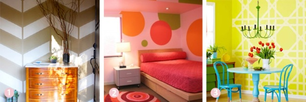 Budget room decor ideas - painted graphic designs | Chicago ReDesign