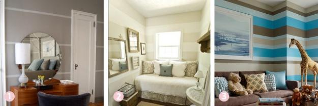 Budget room decor ideas - painted horizontal stripes | Chicago ReDesign
