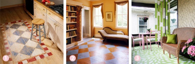 Budget room decor ideas - painted rug designs | Chicago ReDesign