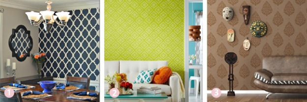 Budget room decor ideas - painted stencil designs | Chicago ReDesign