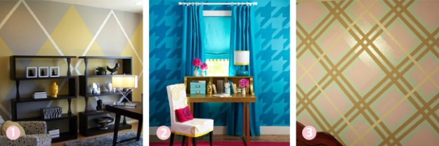 Budget room decor ideas - painted textile designs | Chicago ReDesign