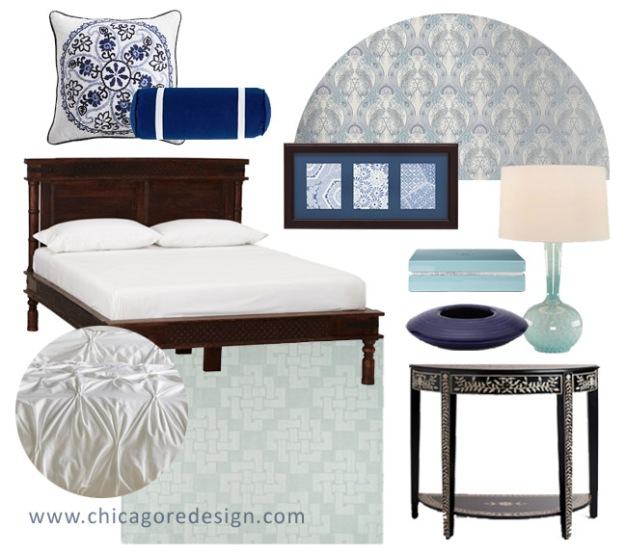 Get The Look: Blue Moroccan Bedroom | Chicago ReDesign