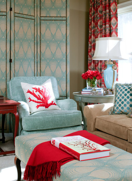 Color Inspiration: Red + Aqua