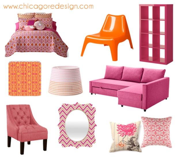 Hot Color Combo: Pink + Orange | Chicago ReDesign