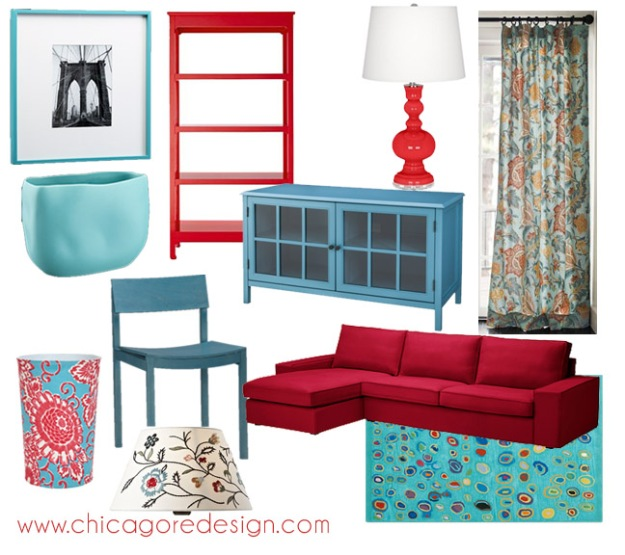 Hot Color Combo: Red + Aqua | Chicago ReDesign