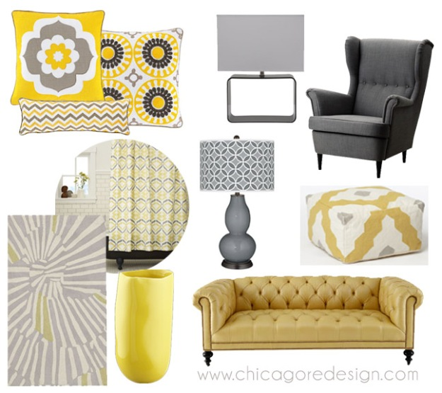 Hot Color Combo: Yellow + Gray | Chicago ReDesign